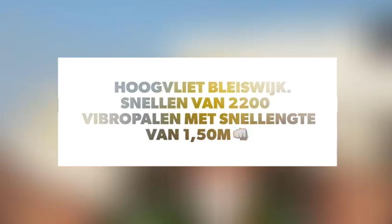 Snellen 2200 Vibropalen Voor Uitbreiding Hoogvliet, Bleiswijk